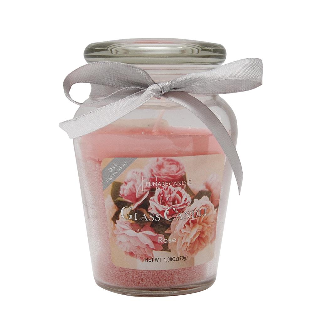 Lumanare Parfumata Roz In Borcan Din Sticla