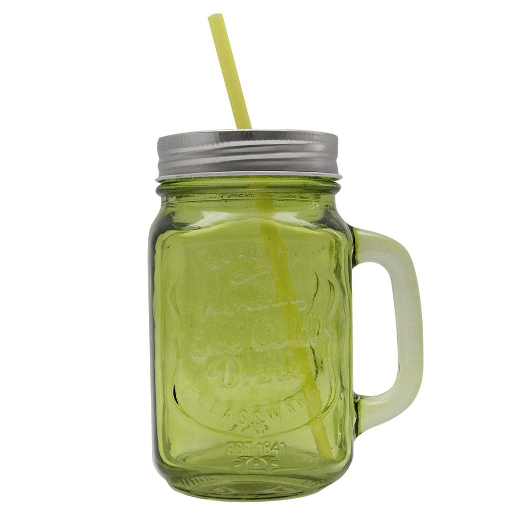 Cana Din Sticla Verde Pentru Limonada 14 Cm