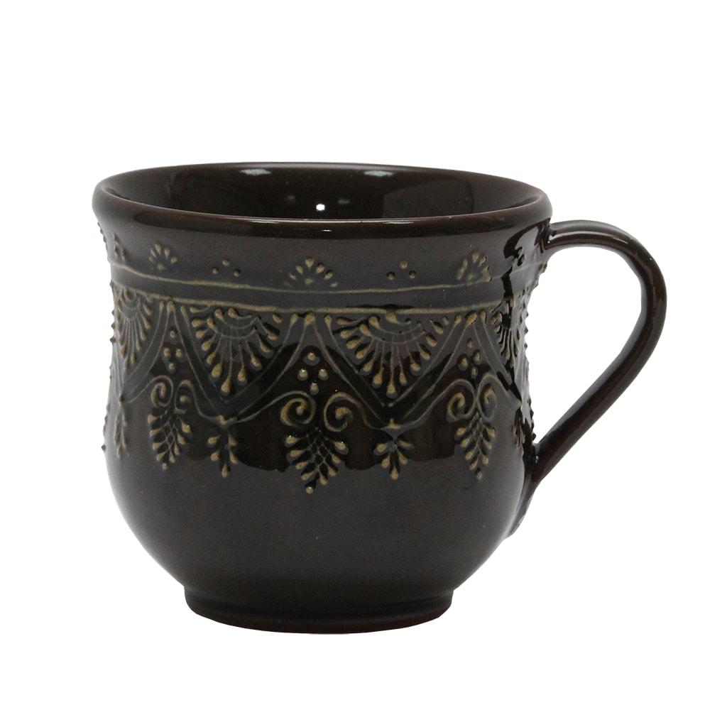 Cana Traditionala Din Ceramica Oliv 9 Cm