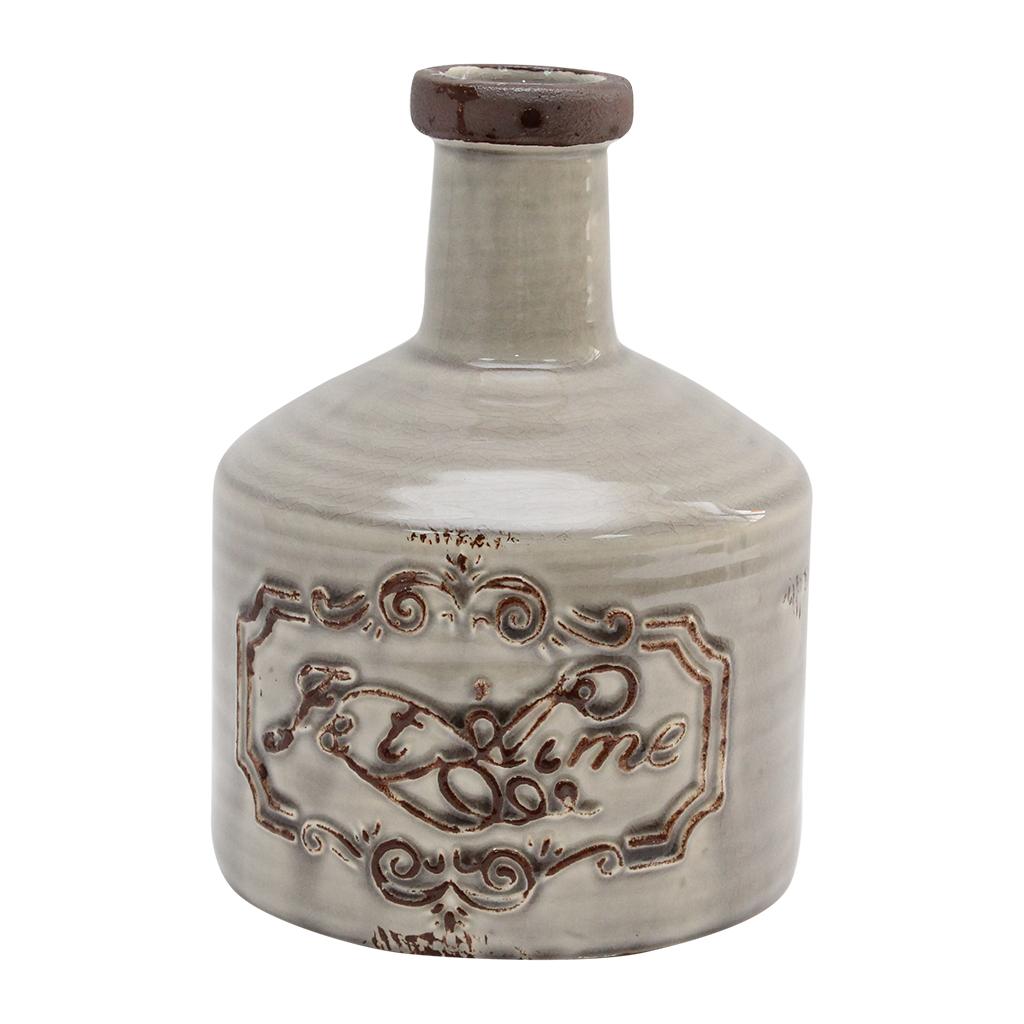 Vas Decorativ Din Ceramica Bej
