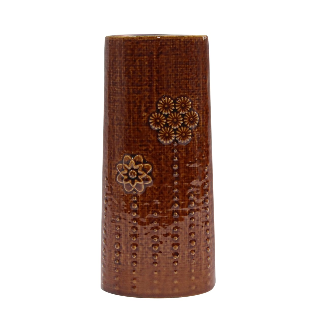 Vaza Ceramica Maro Cu Flori 25 Cm