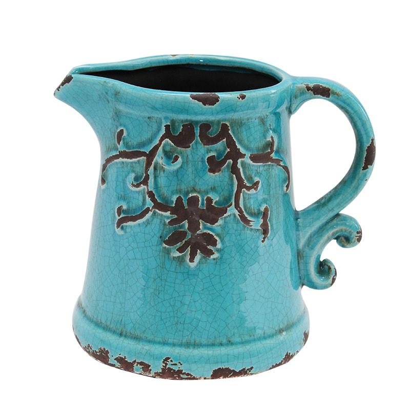 Carafa Decorativa Din Ceramica Turcoaz