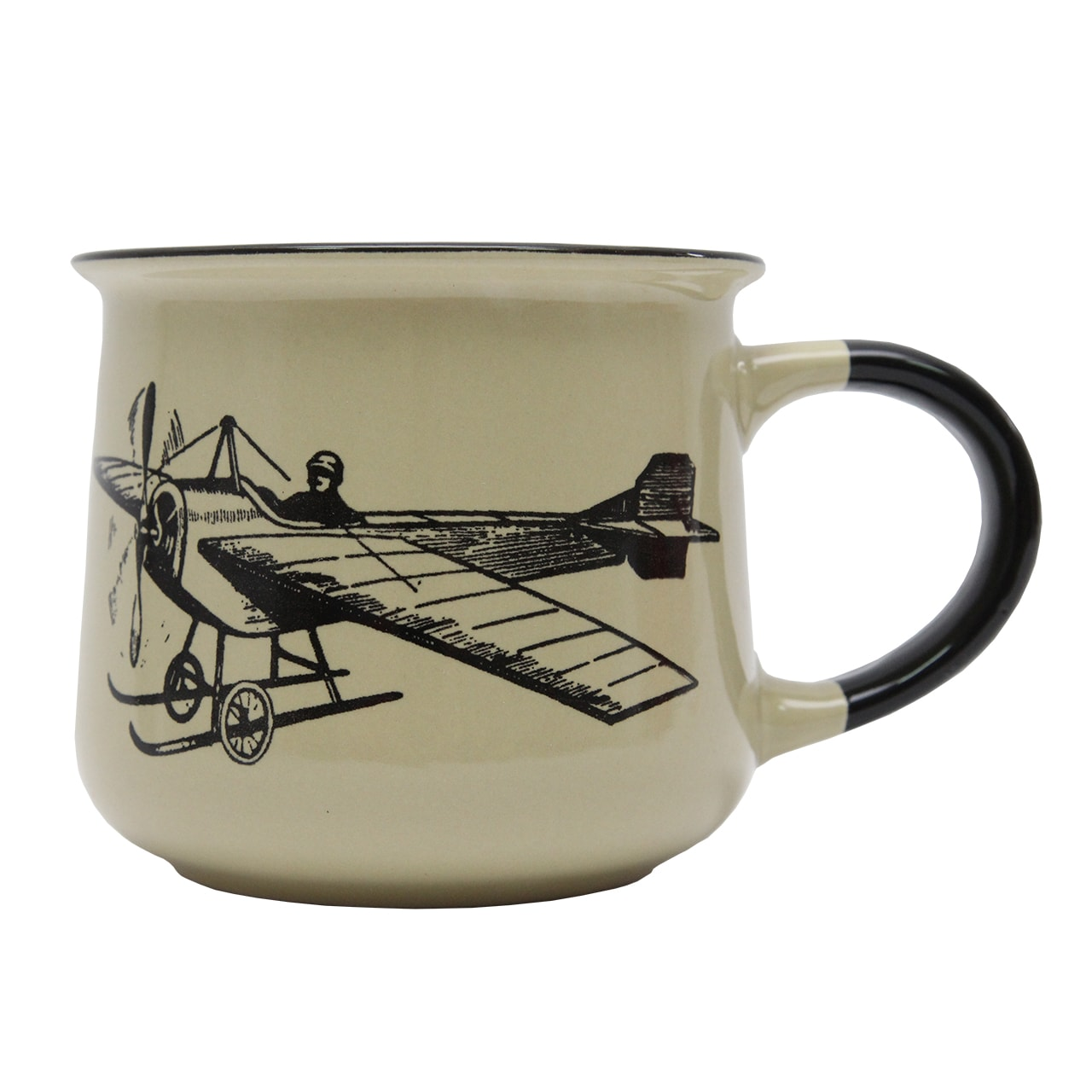 Cana Din Ceramica Lime 10.5 Cm Cu Avion