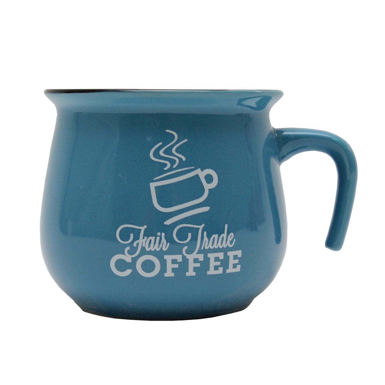 Cana Din Ceramica Albastra 9 Cm - Fair Trade Coffe