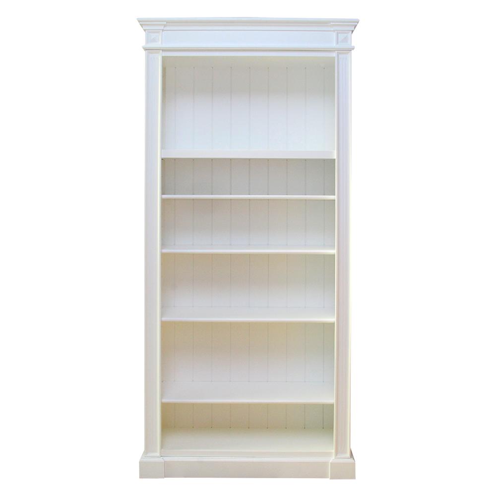 Biblioteca Libra Din Lemn Alb 230x100x37 Cm