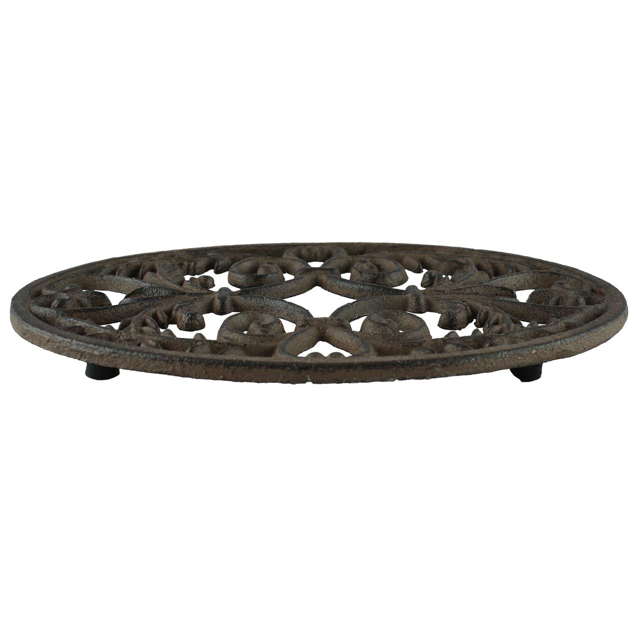 Suport Rotund Pentru Vase Fierbinti Din Metal Maro