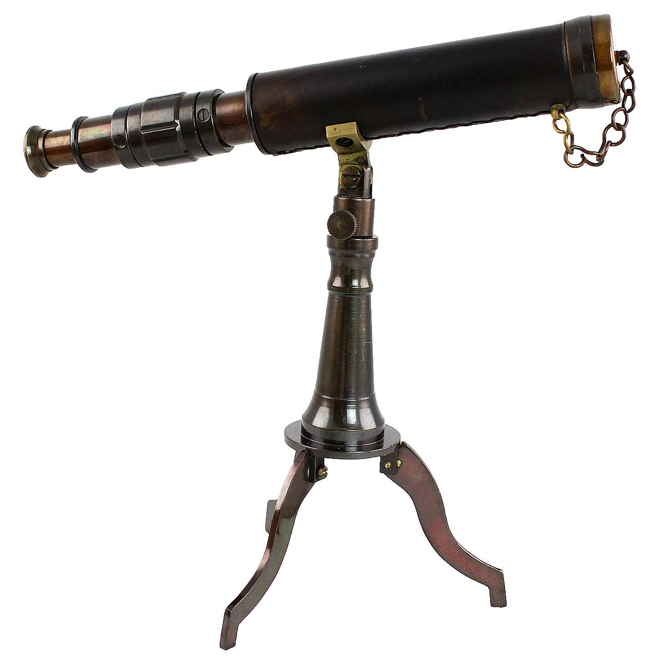 Telescop Cu 3 Picioare Din Metal Si Piele
