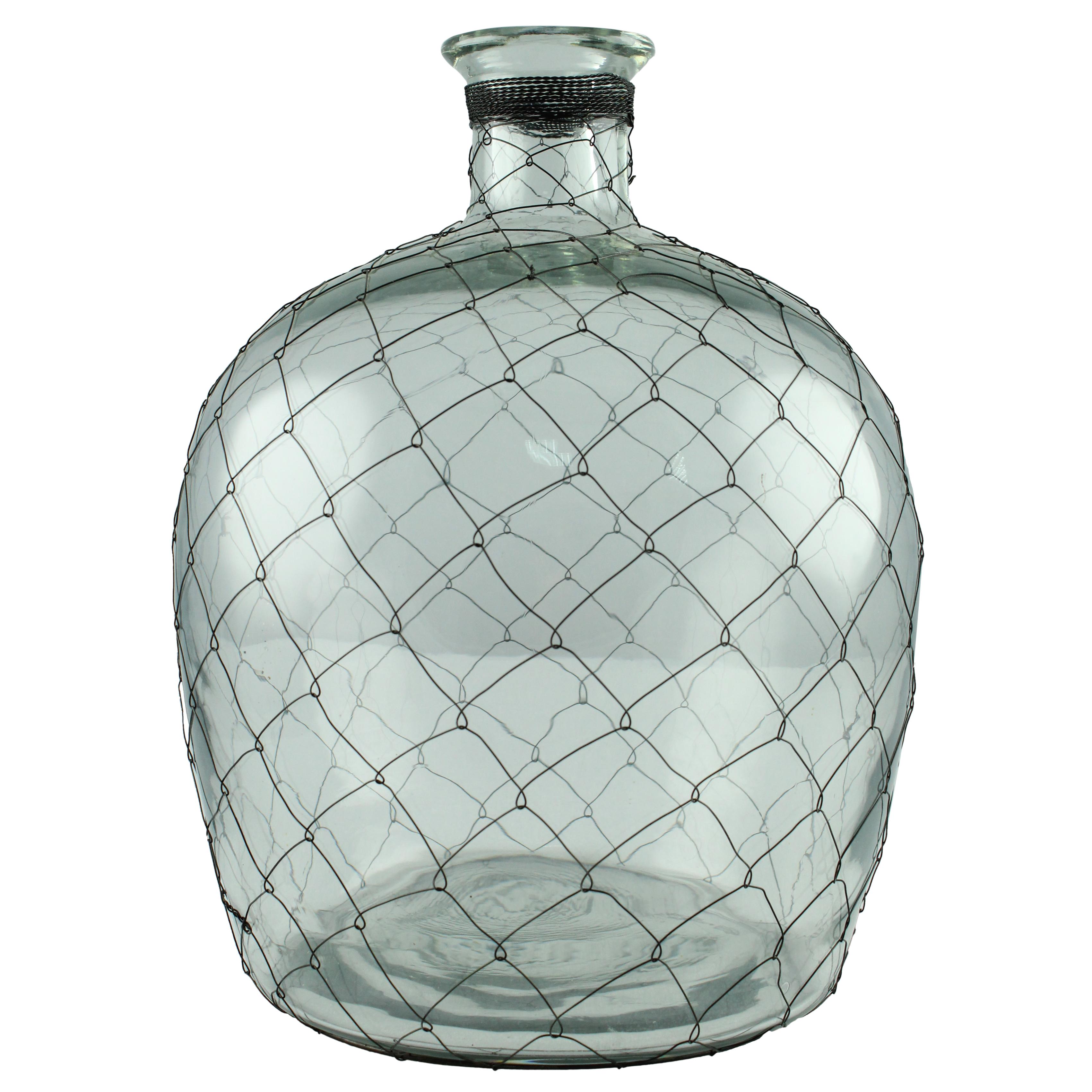 Sticla decorativa cu sarma