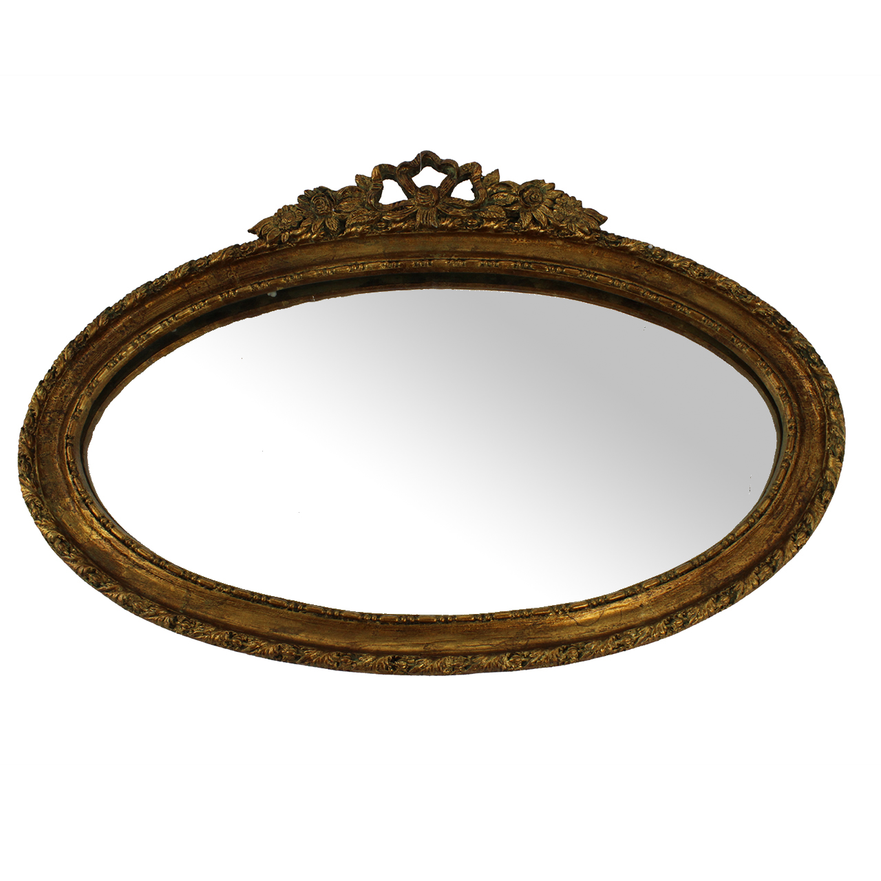 Oglinda Retro Cu Rama Aurie 30x46 Cm