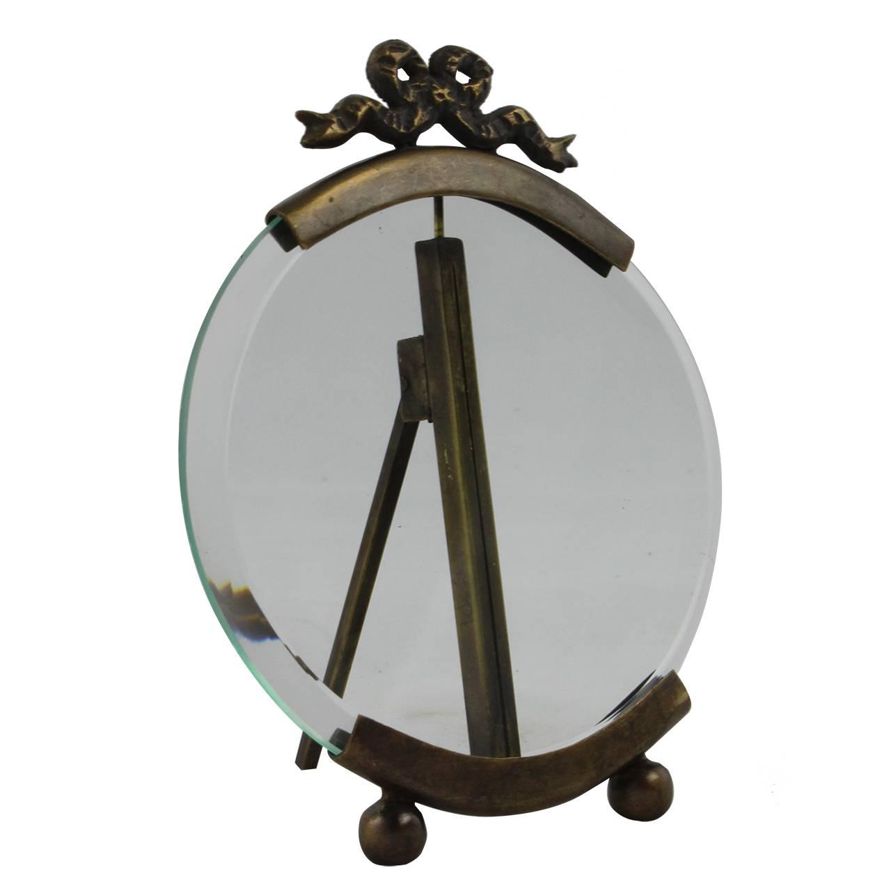 Rama Foto Rotunda Din Sticla Si Metal 13x10 Cm