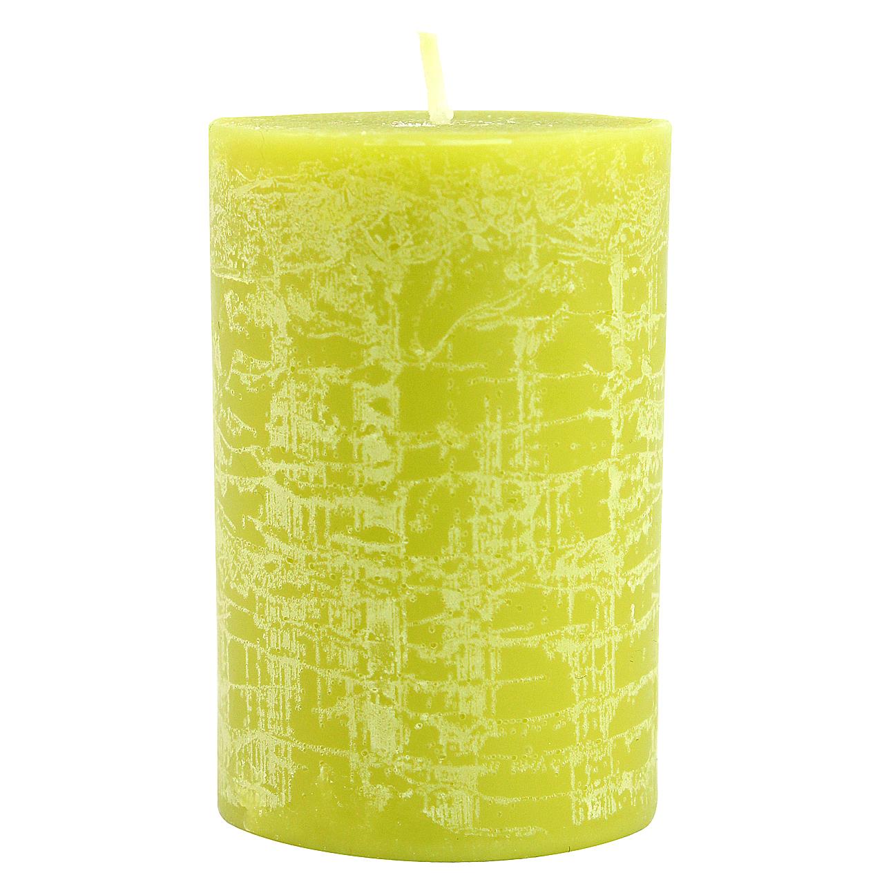 Lumanare Cilindrica Verde 7.5 Cm