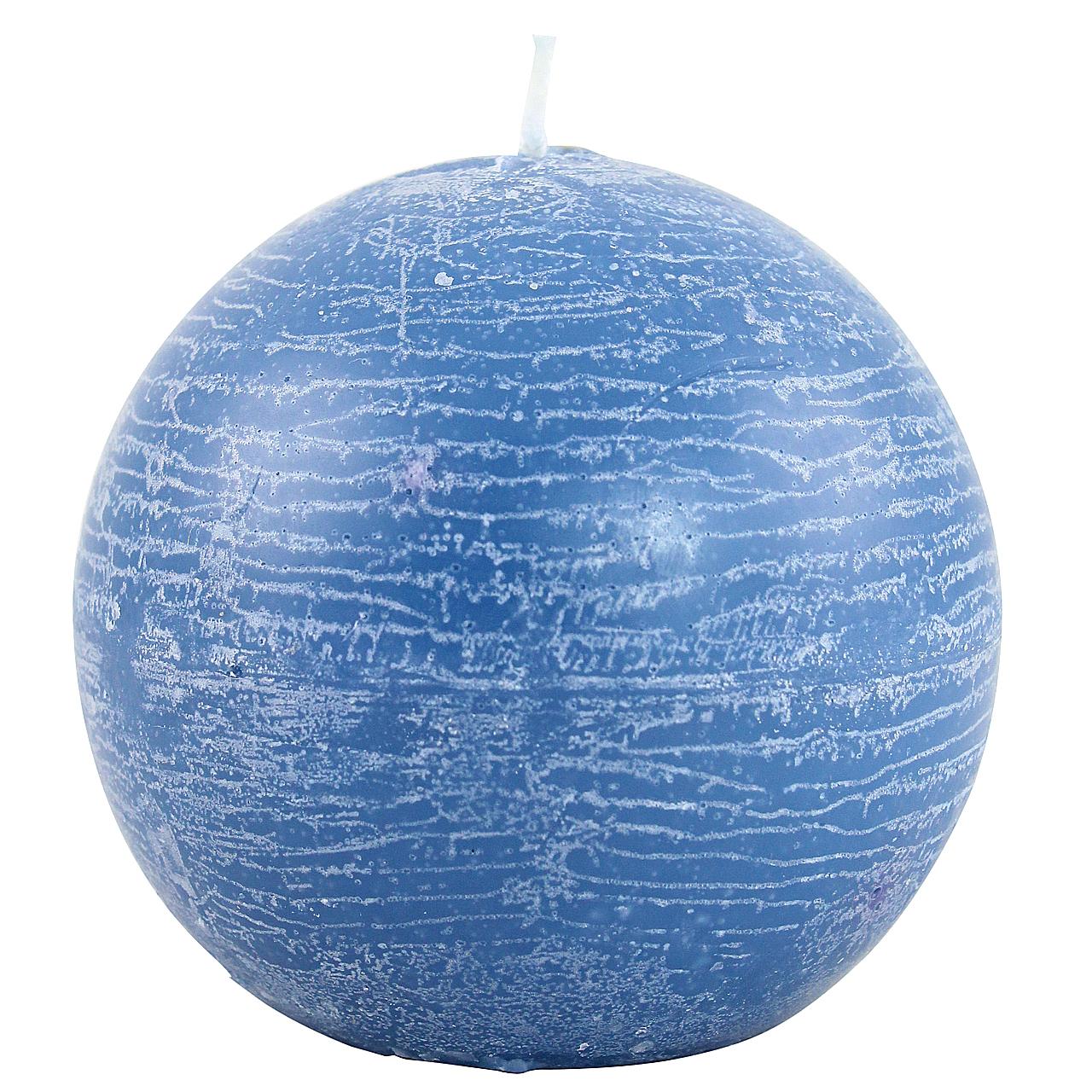 Lumanare Sferica Albastra 10 Cm