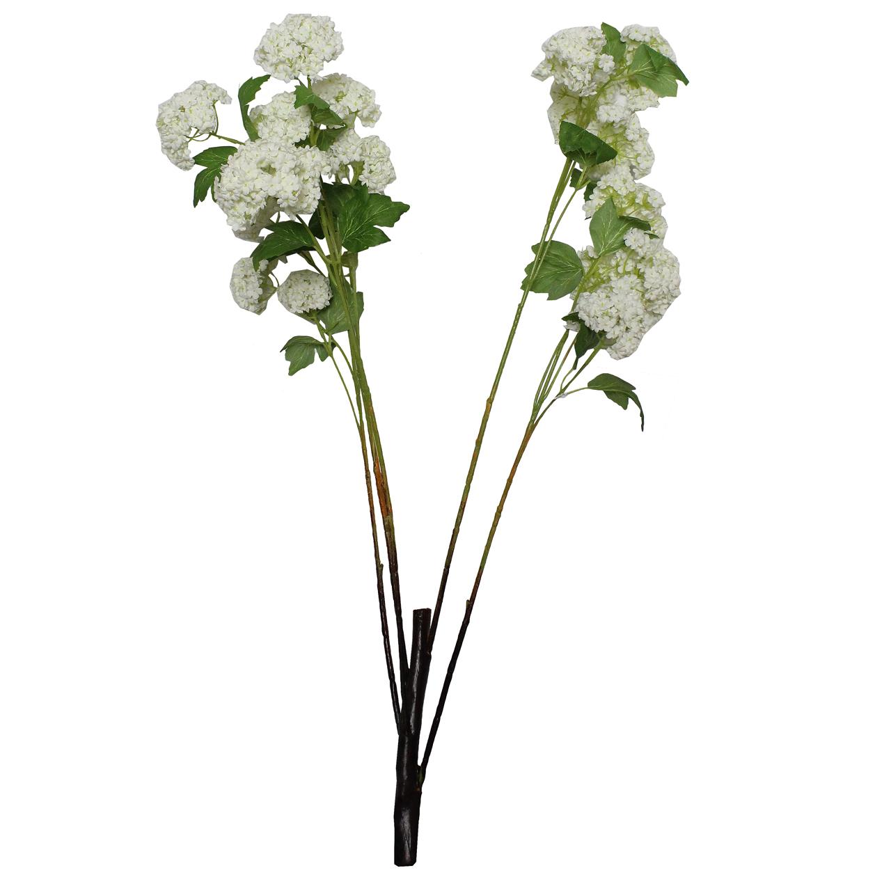 Floare Artificiala Minge De Mai Alba 81 Cm