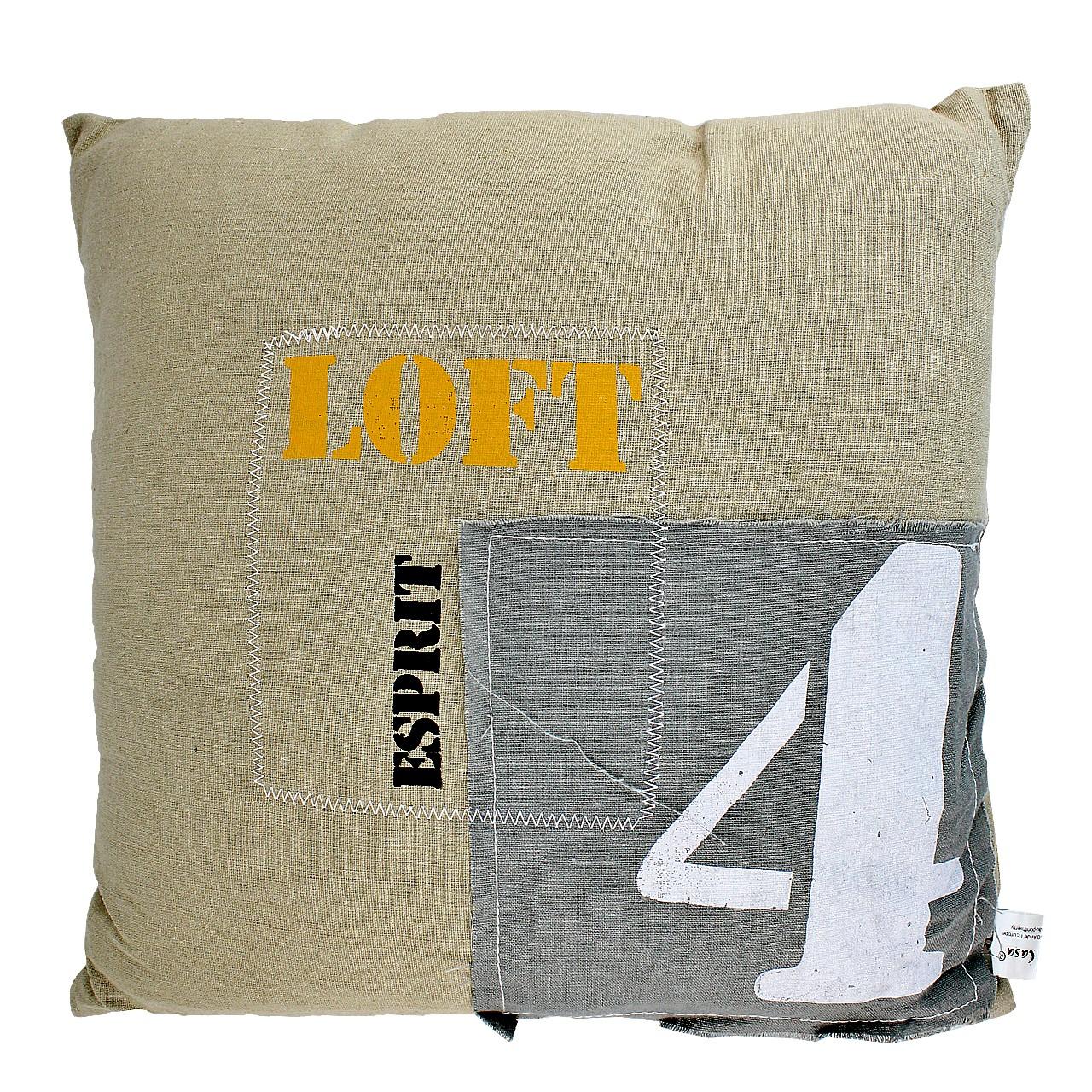 Perna Decorativa Din Textil Crem Cu Petic 40 Cm