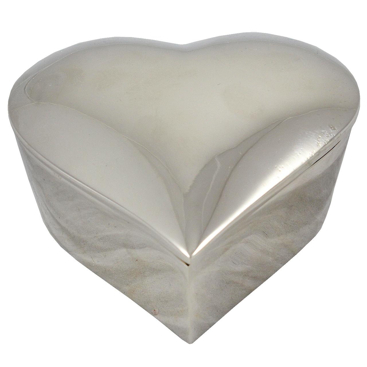 Cutie Decorativa Inima Din Inox 15x15 Cm