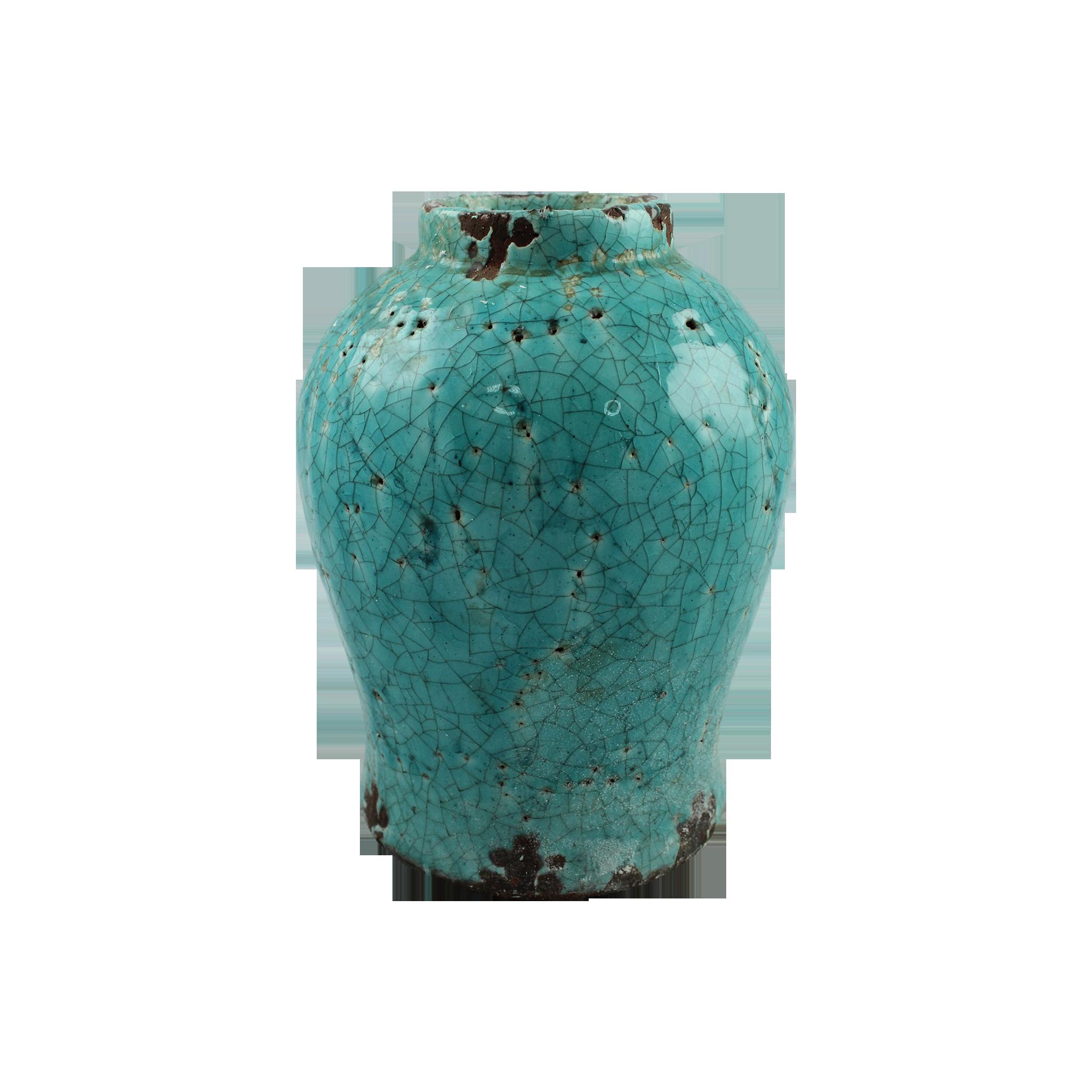 Vaza Din Ceramica Turcoaz 22 Cm