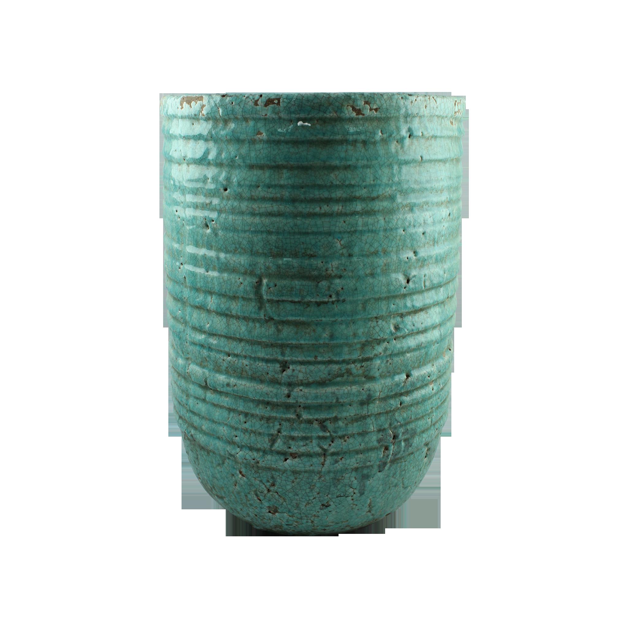 Ghiveci Din Ceramica Turcoaz 51 Cm