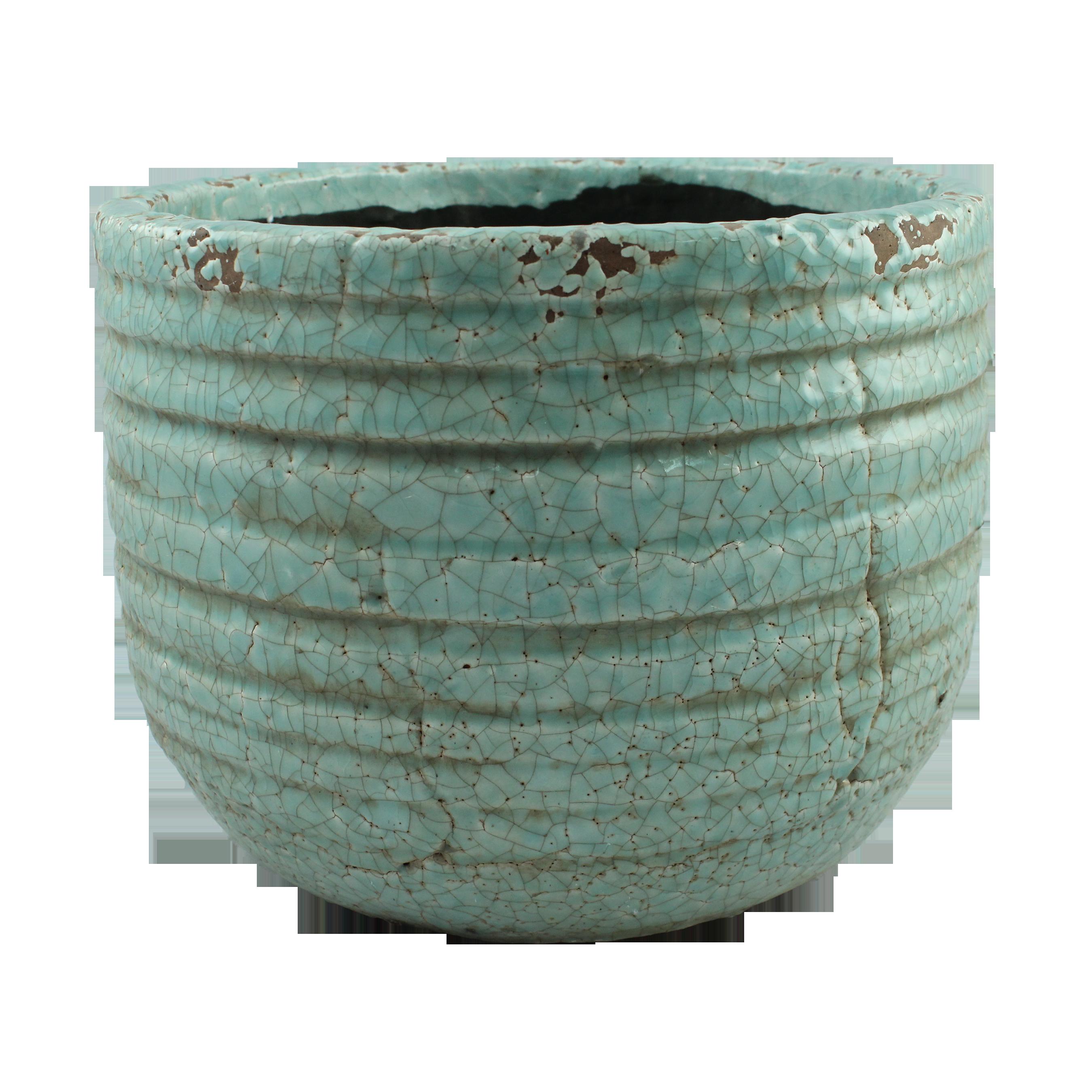 Ghiveci Din Ceramica Turcoaz 30 Cm