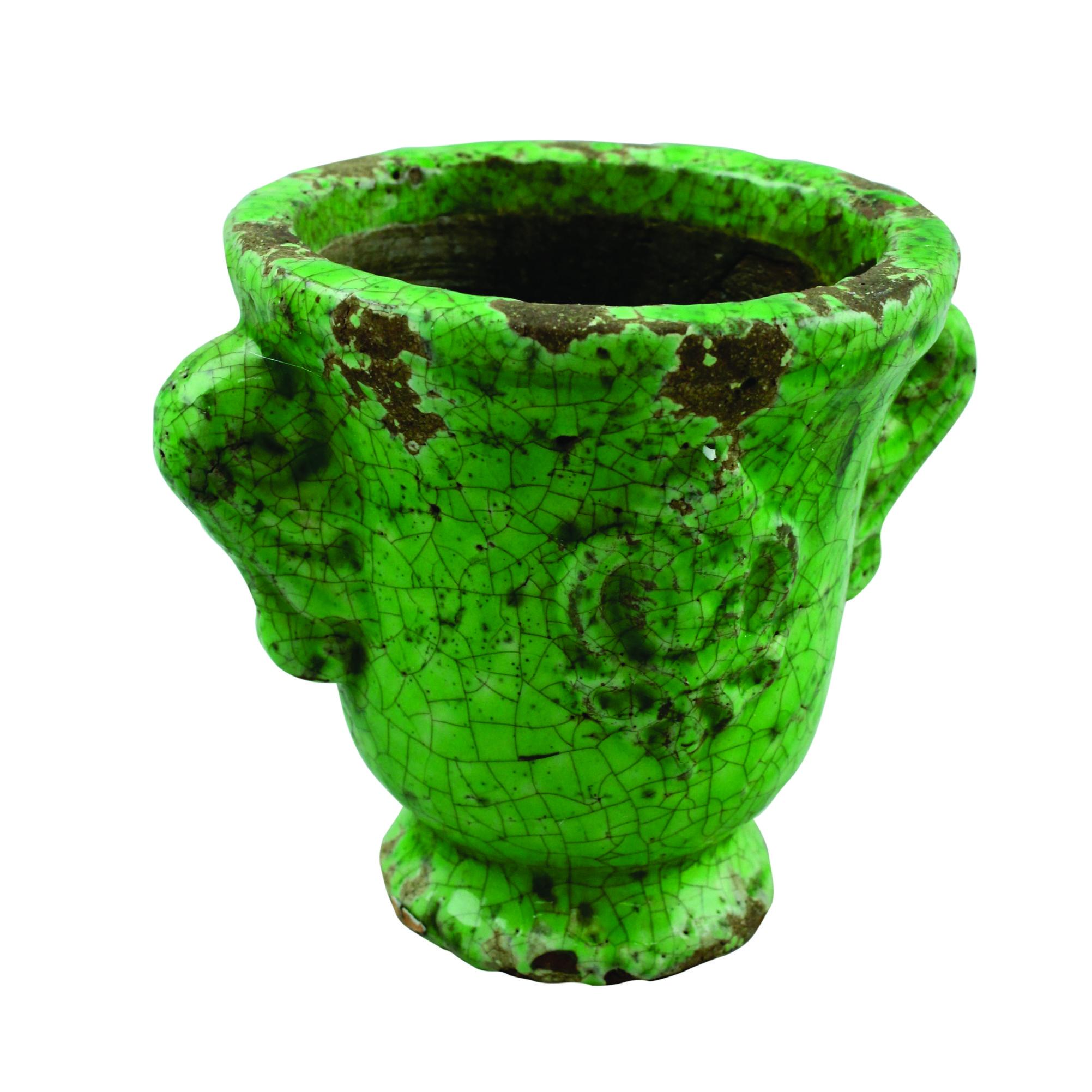 Ghiveci Din Ceramica Verde 13 Cm