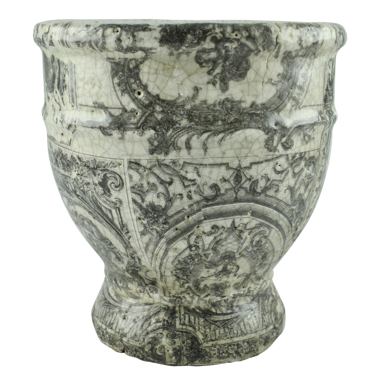 Vaza Din Ceramica Gri 20 Cm