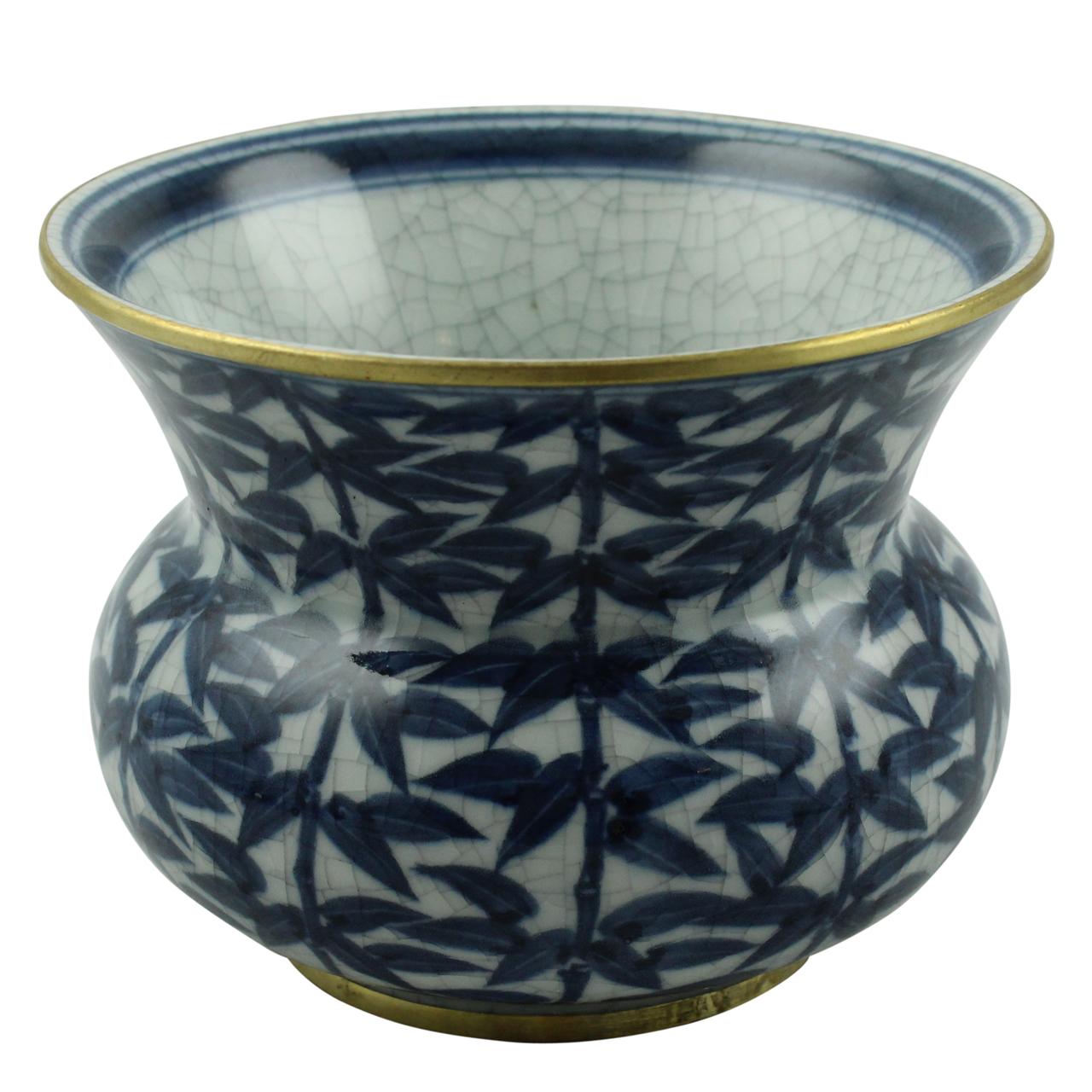 Vaza Decorativa Din Portelan Albastru 11 Cm