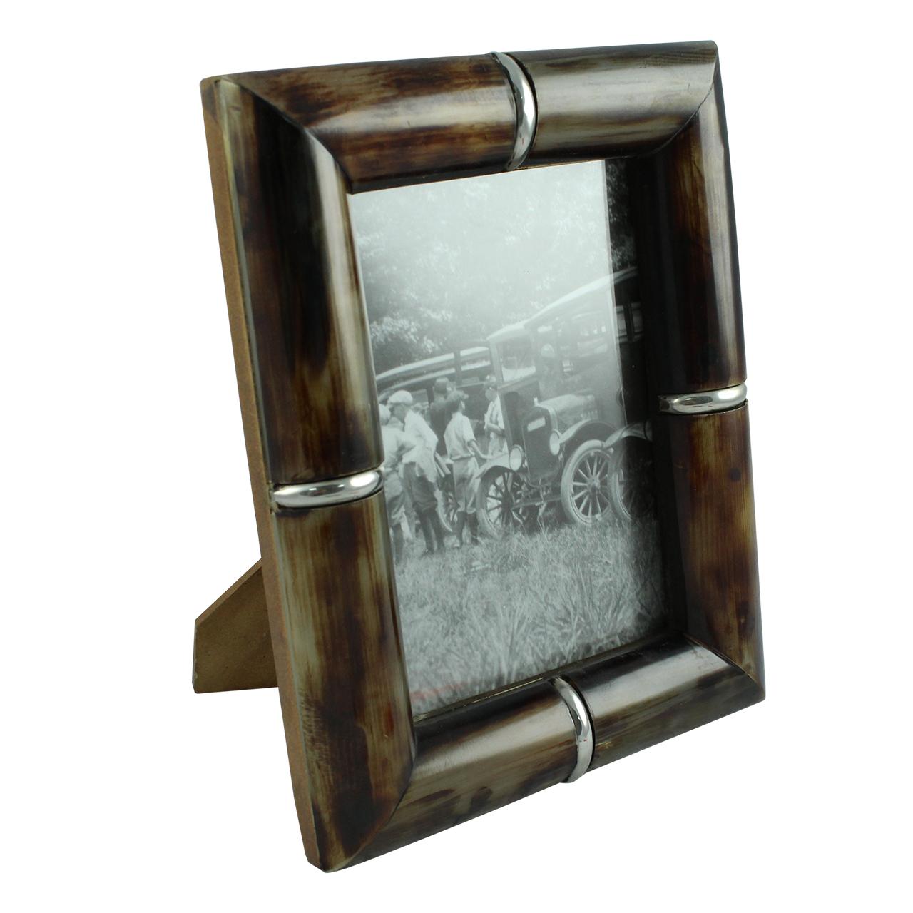 Rama Foto Din Lemn Negru Cu Elemente Metalice 13x1