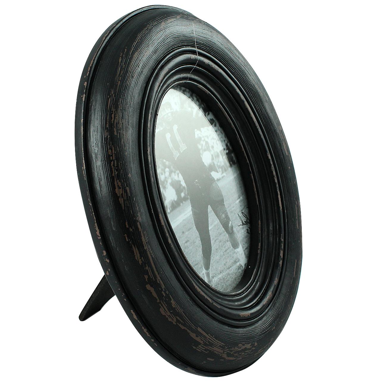 Rama Foto Ovala Din Lemn Negru 26x20 Cm