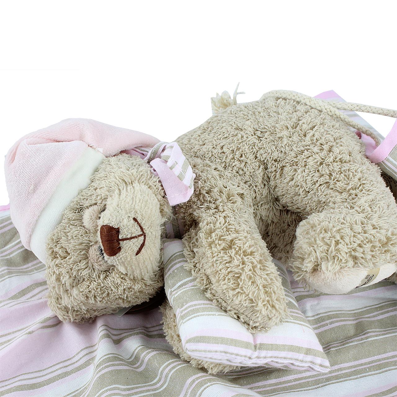 Jucarie Ursulet In Hamac Din Plus Si Textil 23 Cm