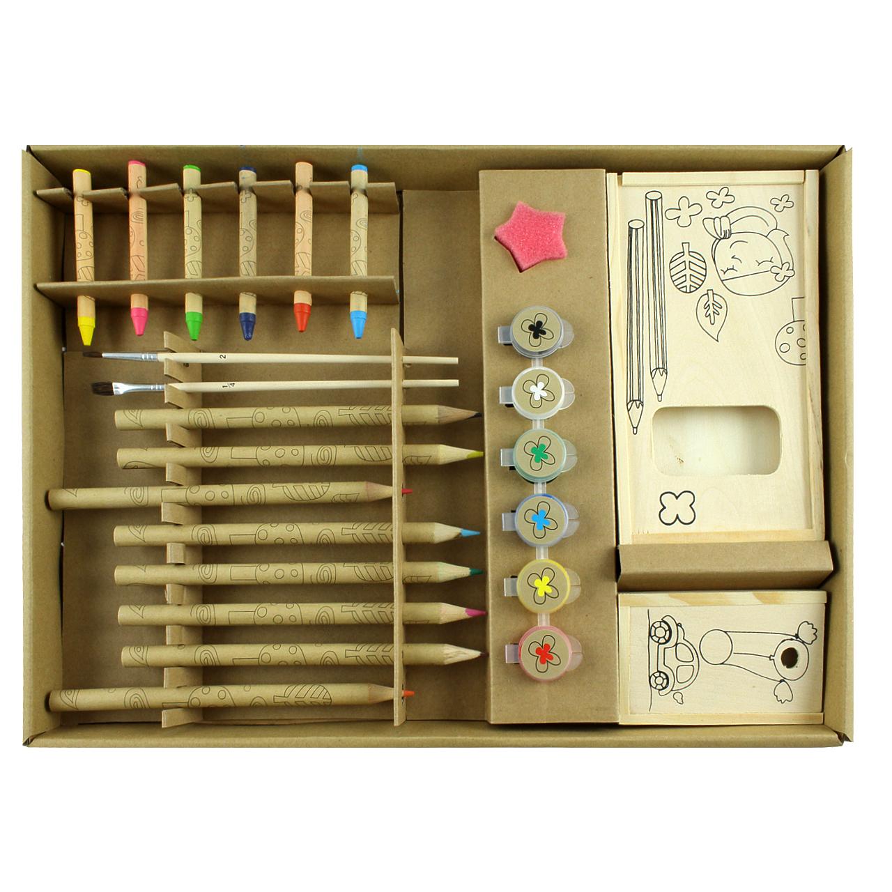 Set Pentru Desen Si Pictura Maro