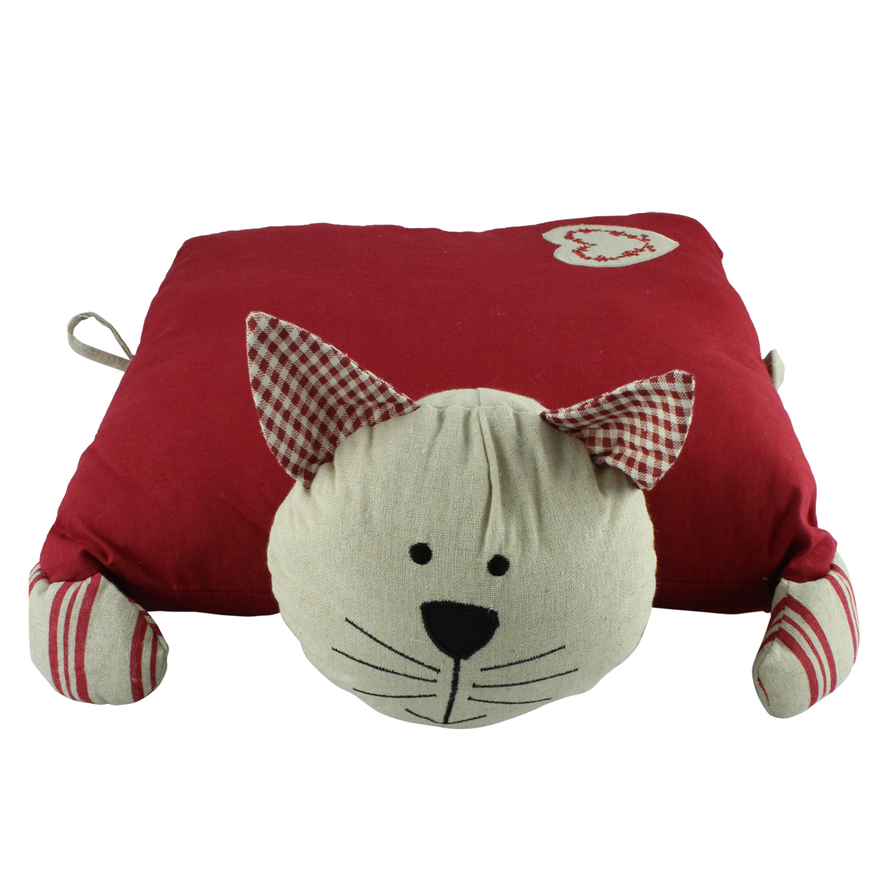Perna Decorativa Pisica Din Bumbac Rosu