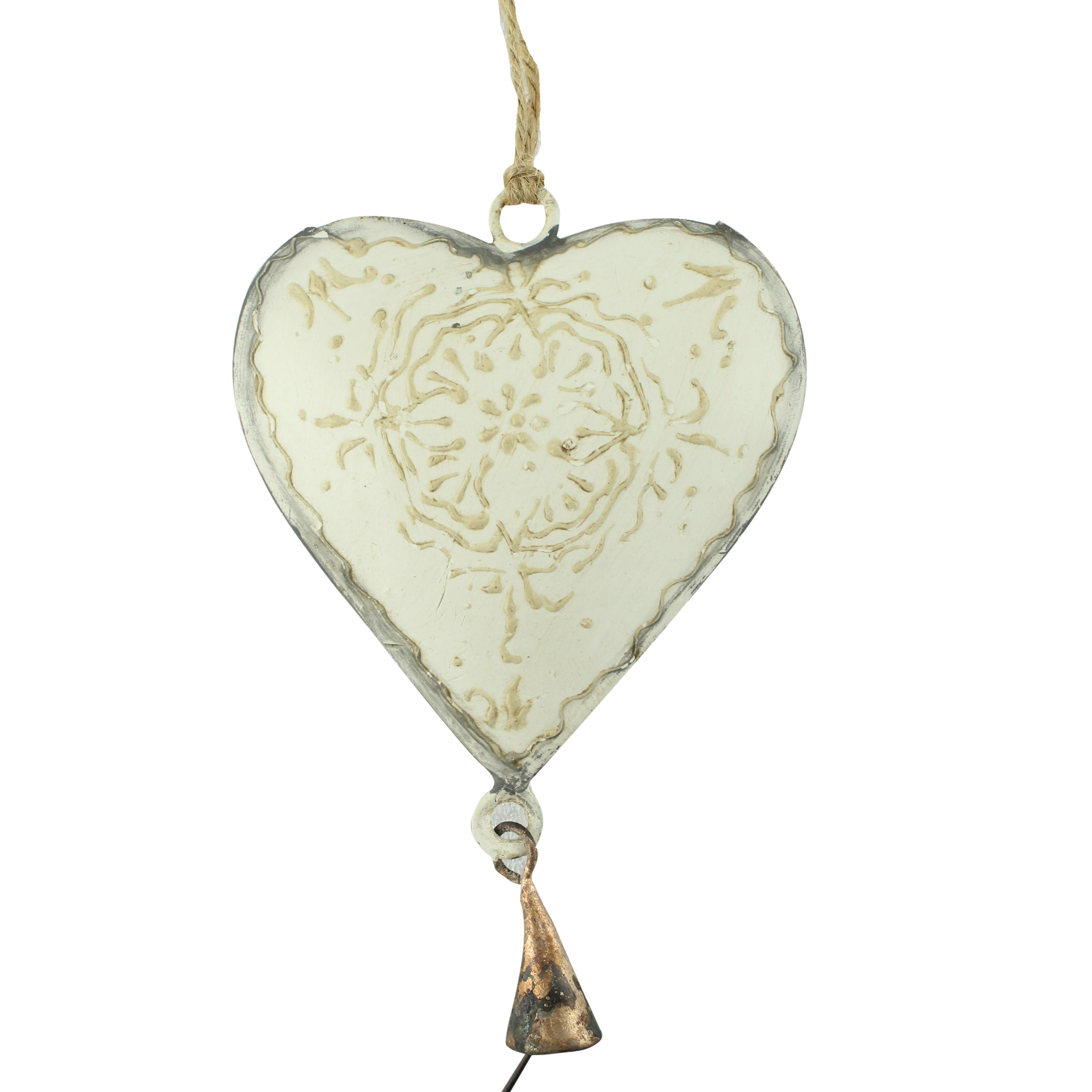 Decoratiune Inima Cu Clopotel Din Metal