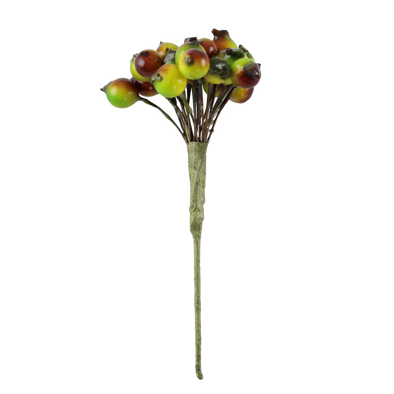 Floare Artificiala Fructe De Padure Verzi 14 Cm