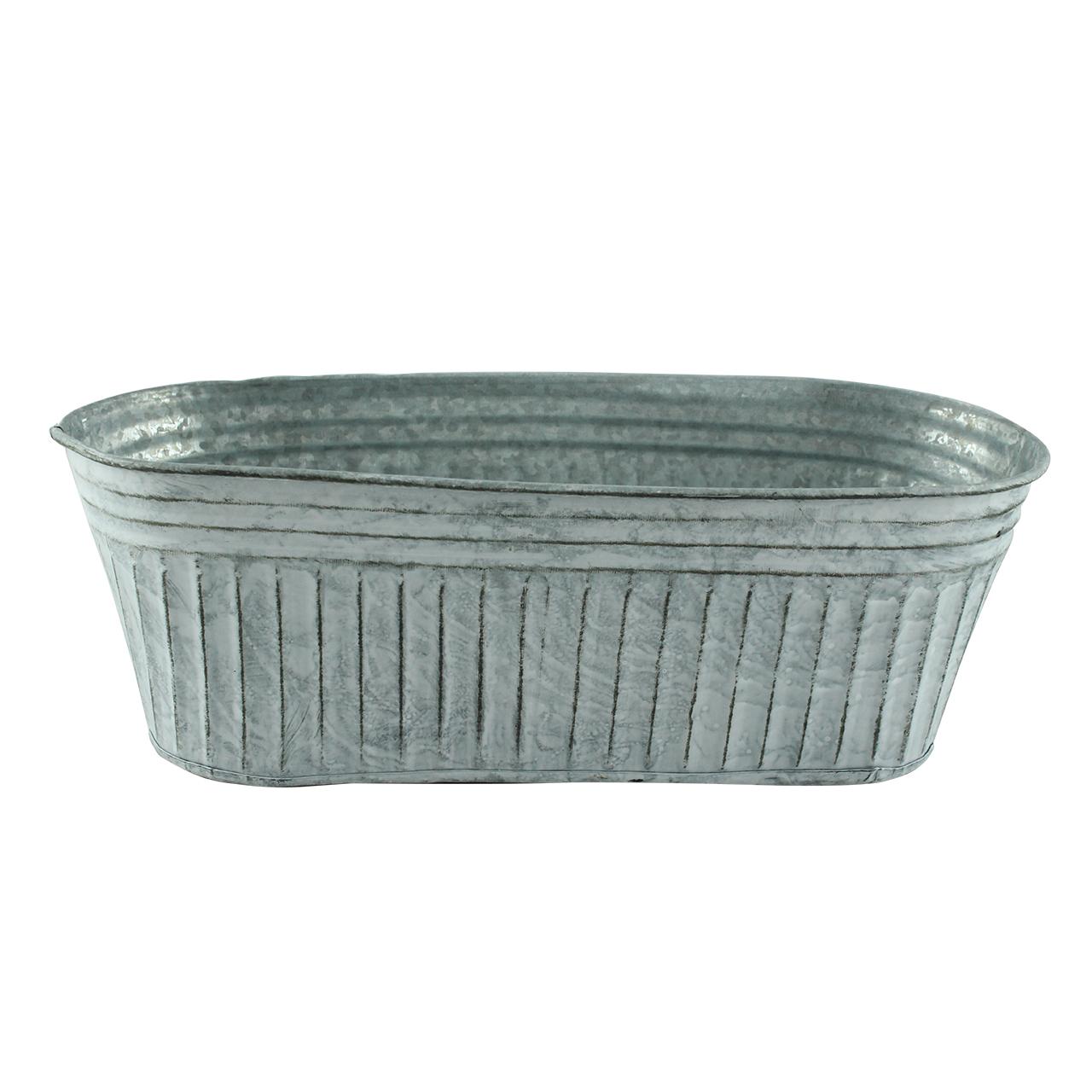 Jardiniera Din Metal Gri 28.5 Cm