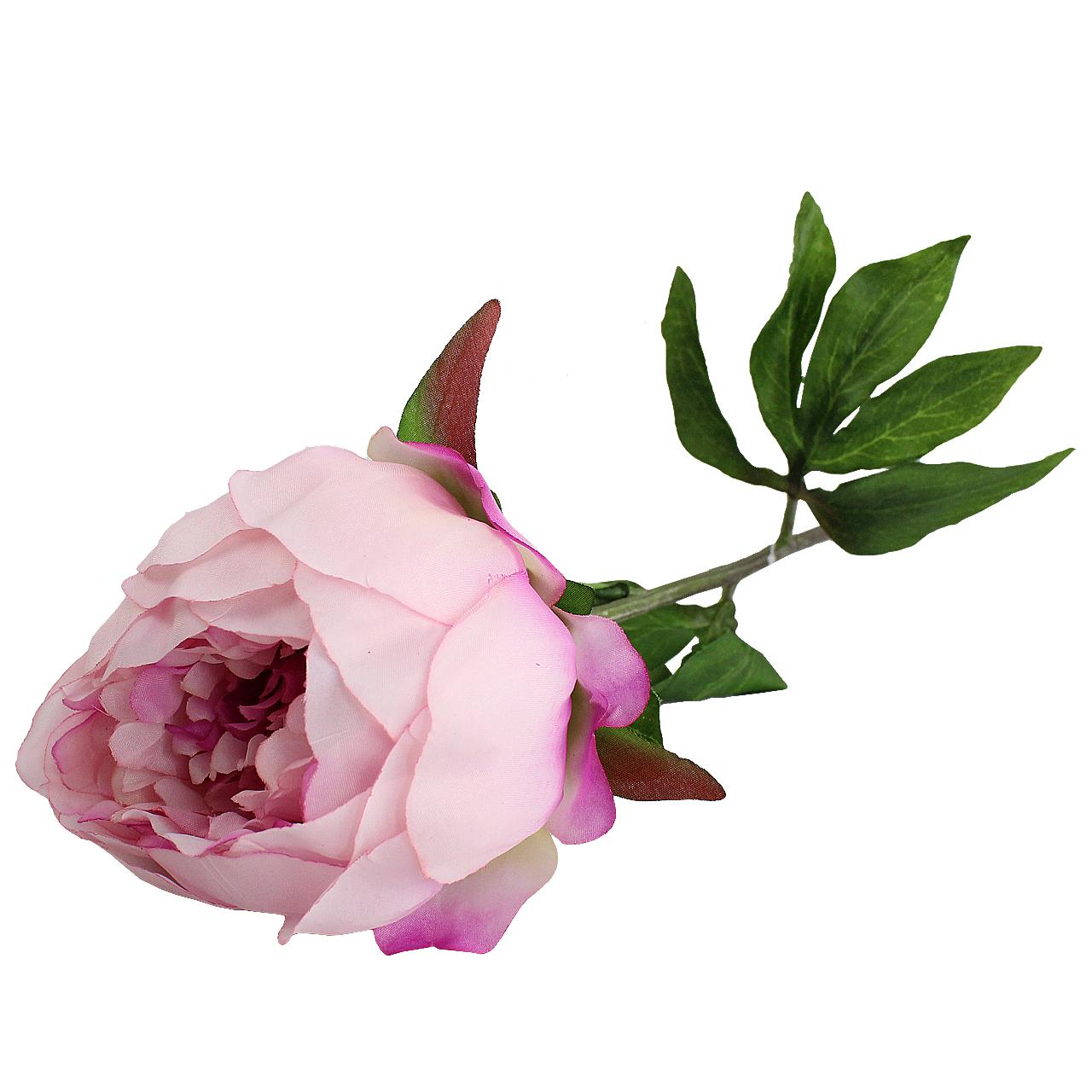 Floare Artificiala Bujor Roz 50 Cm