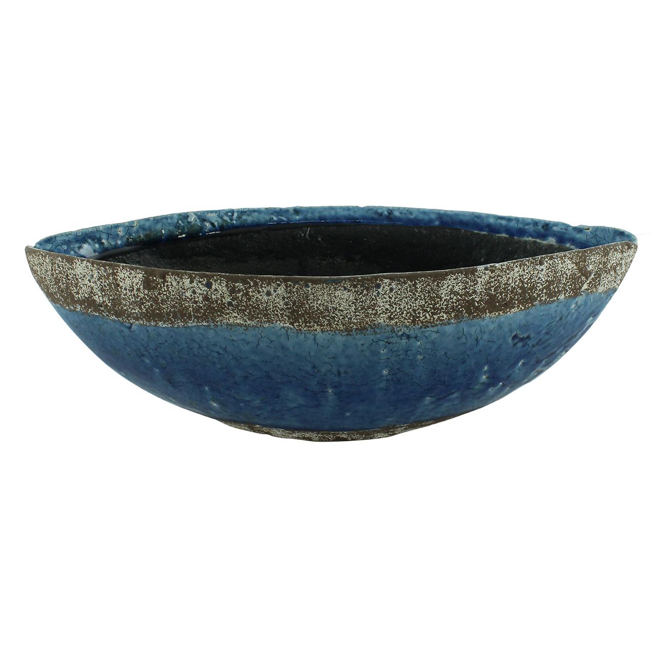 Ghiveci Din Ceramica Albastra 13 Cm