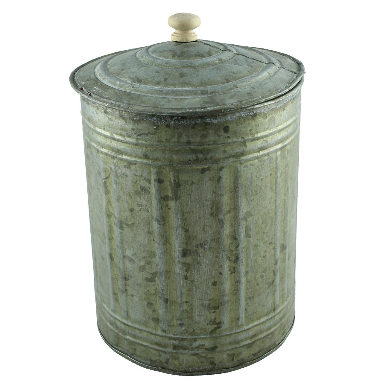 Vas Cu Capac De Metal Gri 15 Cm