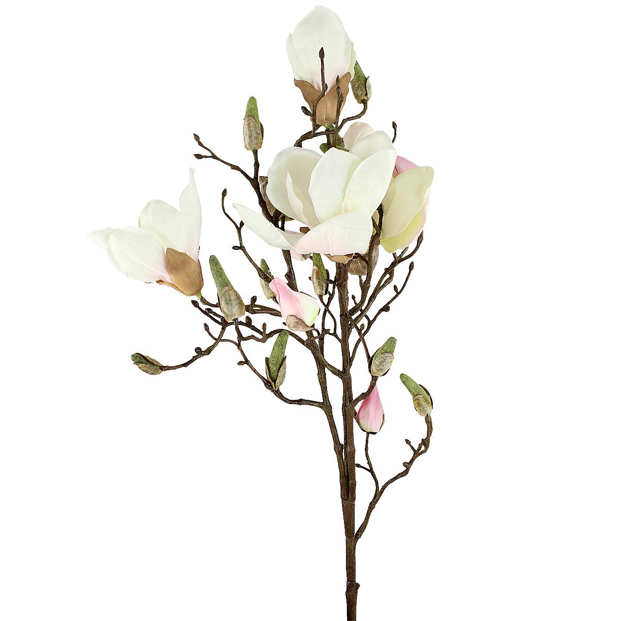 Floare Artificiala Magnolie Alba 65 Cm