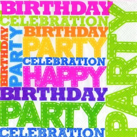 Servetele Decorative Birthday Din Hartie 33 Cm