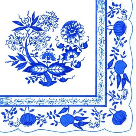 Servetele Decorative Din Hartie Cu Flori Albastre