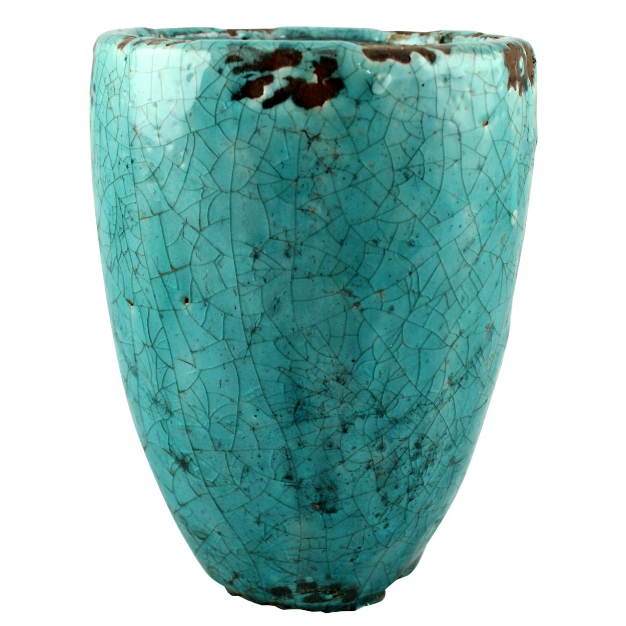 Ghiveci Din Ceramica Turcoaz 16 Cm