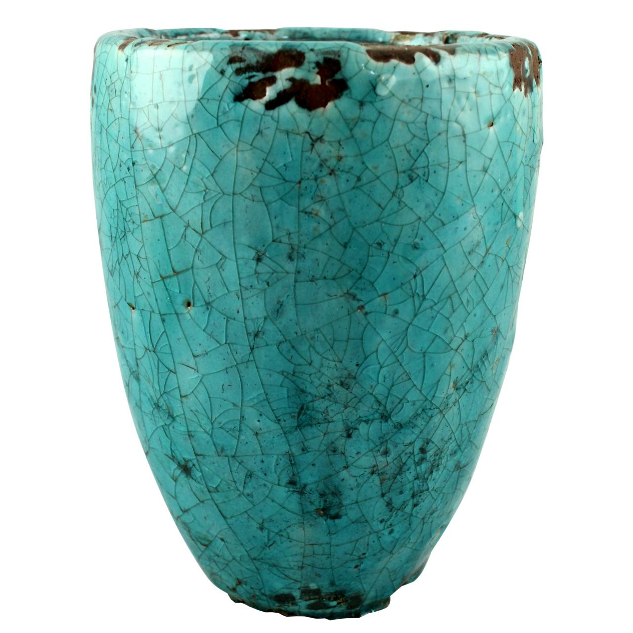 Ghiveci Din Ceramica Turcoaz 28.5 Cm
