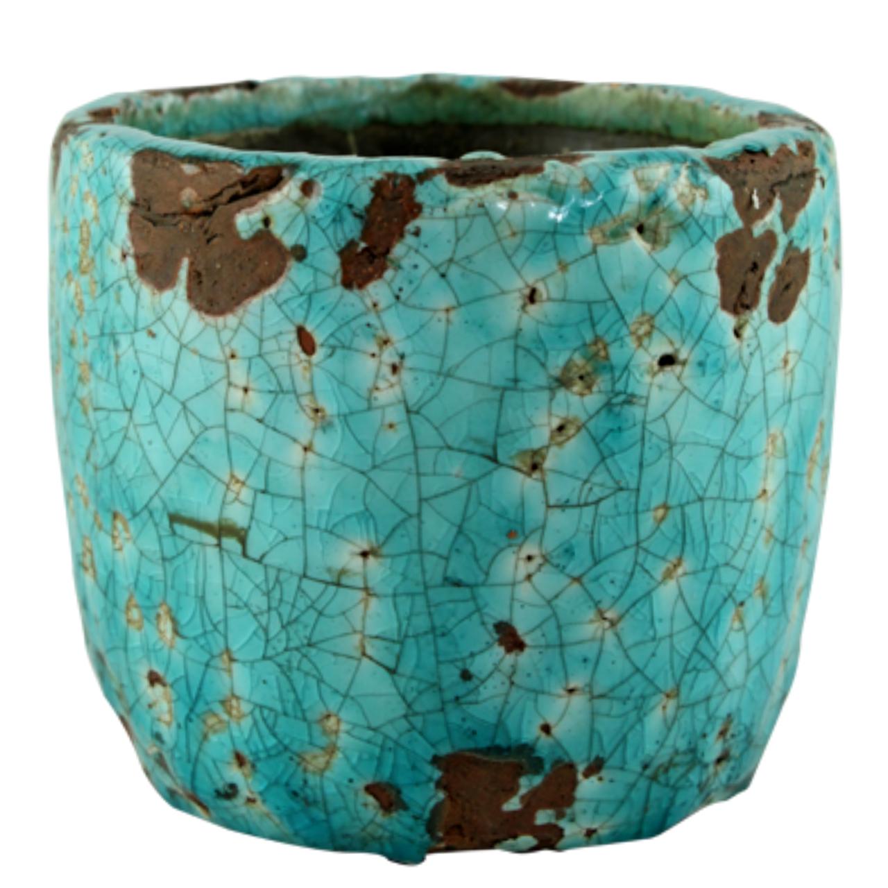 Ghiveci Din Ceramica Turcoaz 14 Cm