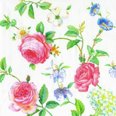 Servetele Decorative Din Hartie Cu Trandafiri 33 C