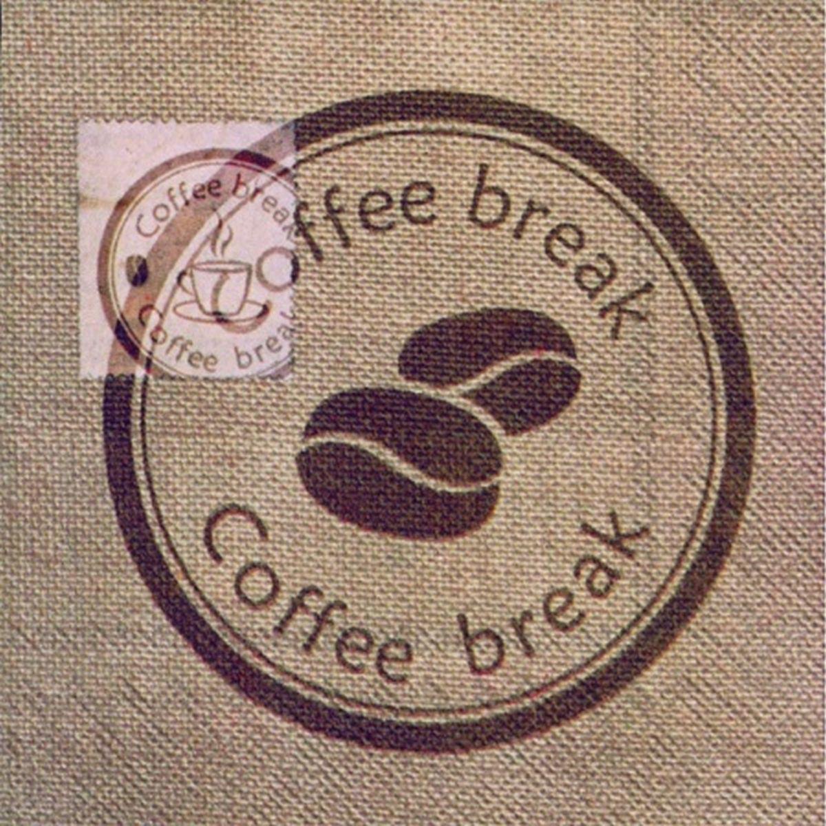 Servetele Decorative Din Hartie Cu Cafea 25 Cm