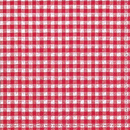 Servetele Decorative Din Hartie Rosie Pepit 25 Cm