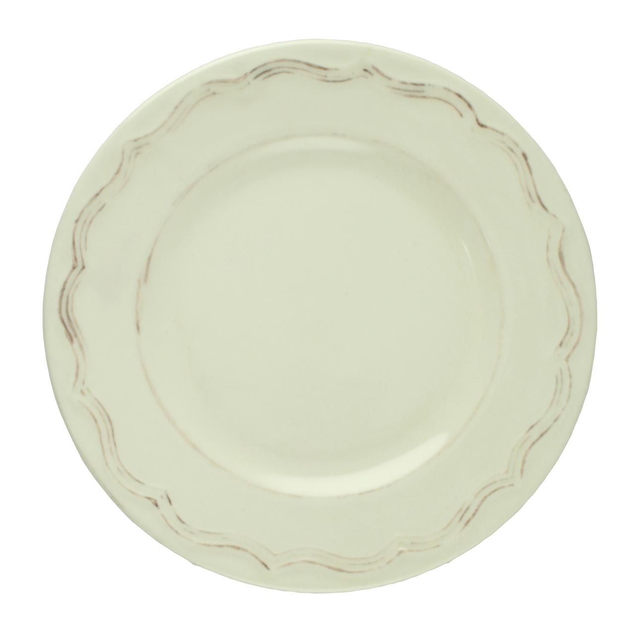 Farfurie Vintage Din Ceramica Crem 20 Cm