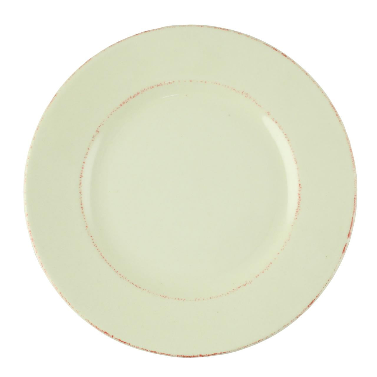 Farfurie Rustica Din Ceramica Crem 20 Cm