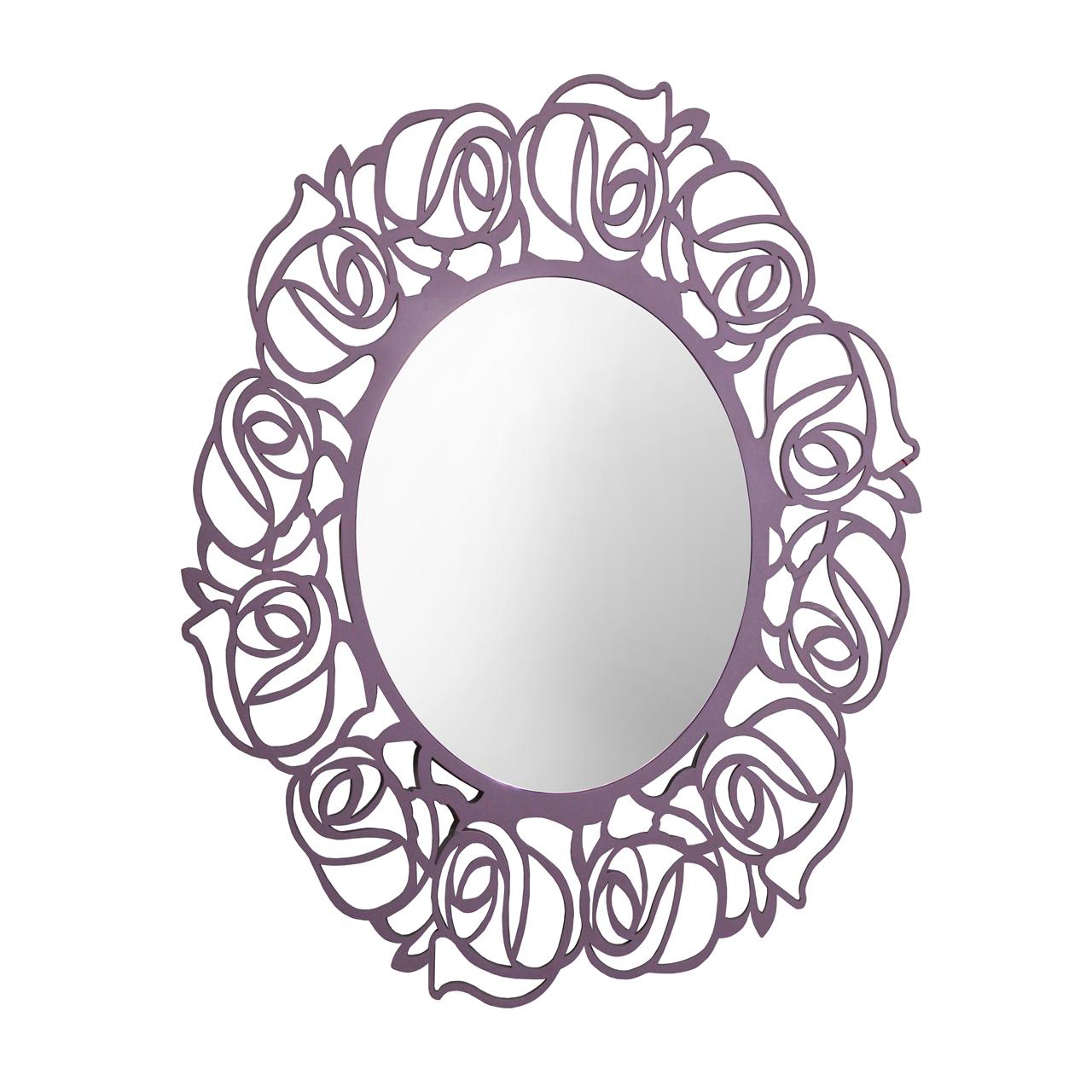 Oglinda Ovala Cu Rama Mov 100x120 Cm