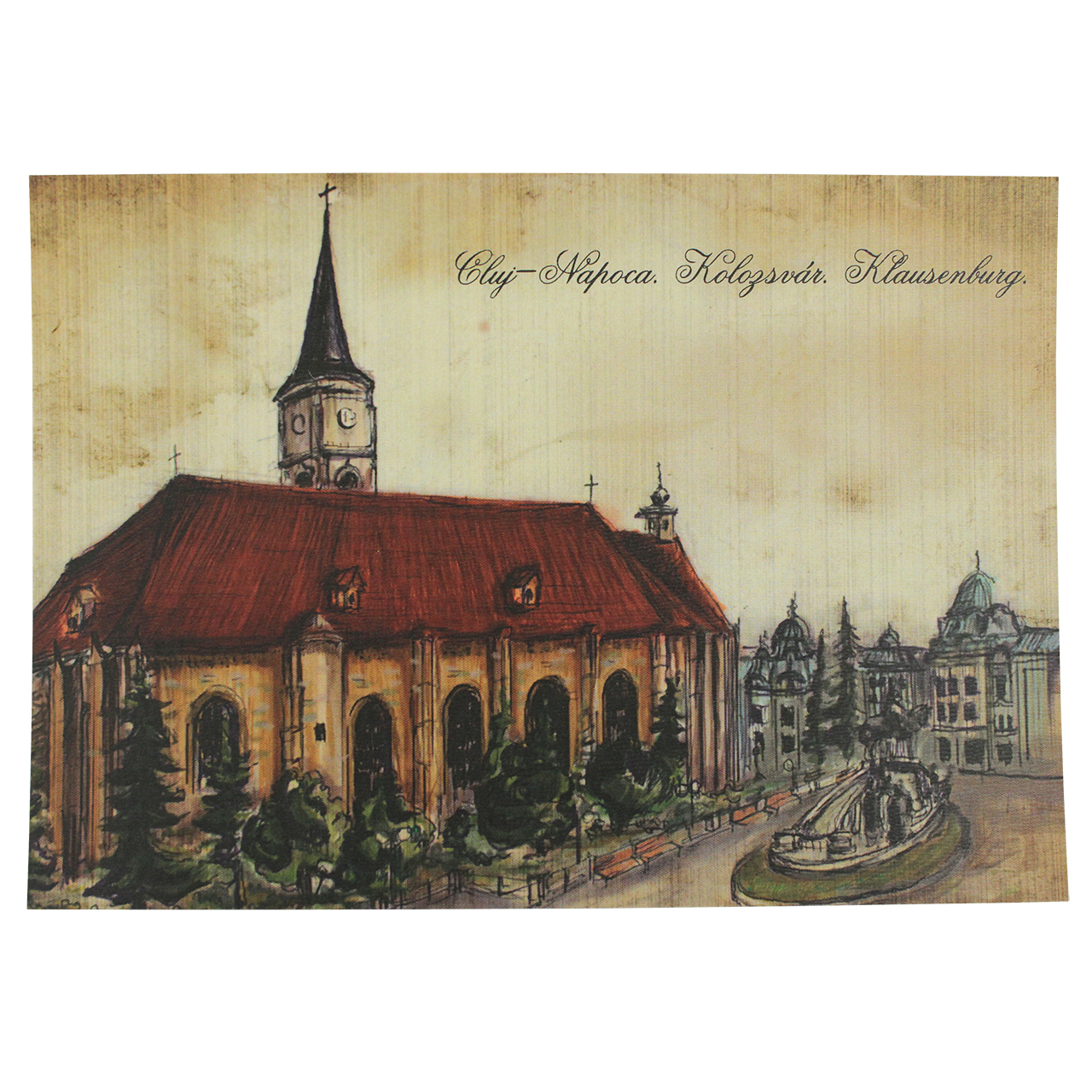 Carte Postala Din Carton Cu Biserica Sf. Mihail