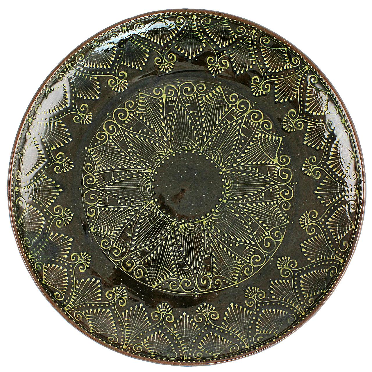 Farfurie Rustica Din Ceramica Maro